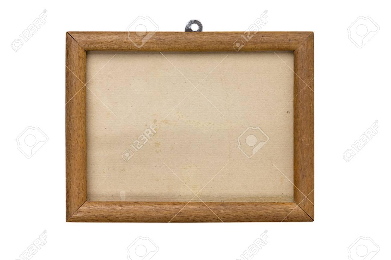 Alte Holz Bilderrahmen Mit Passepartout Und Pappe Matte Isoliert