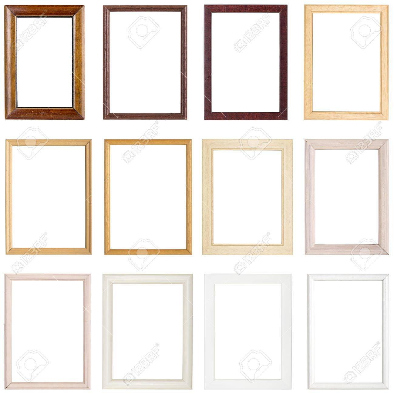 Collection of simple wooden picture frames isolated on white collection of simple wooden picture frames isolated on white stock photo 37503920 jeuxipadfo Images