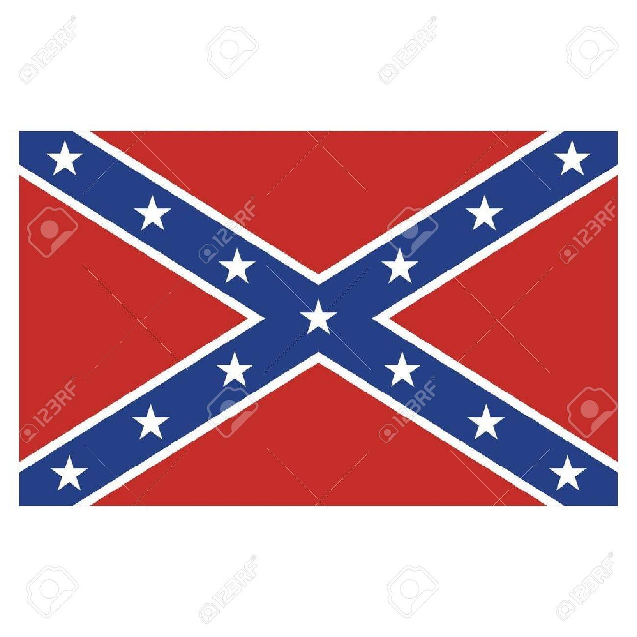 Confederate Rebel Flag Stock Vector - 24811471