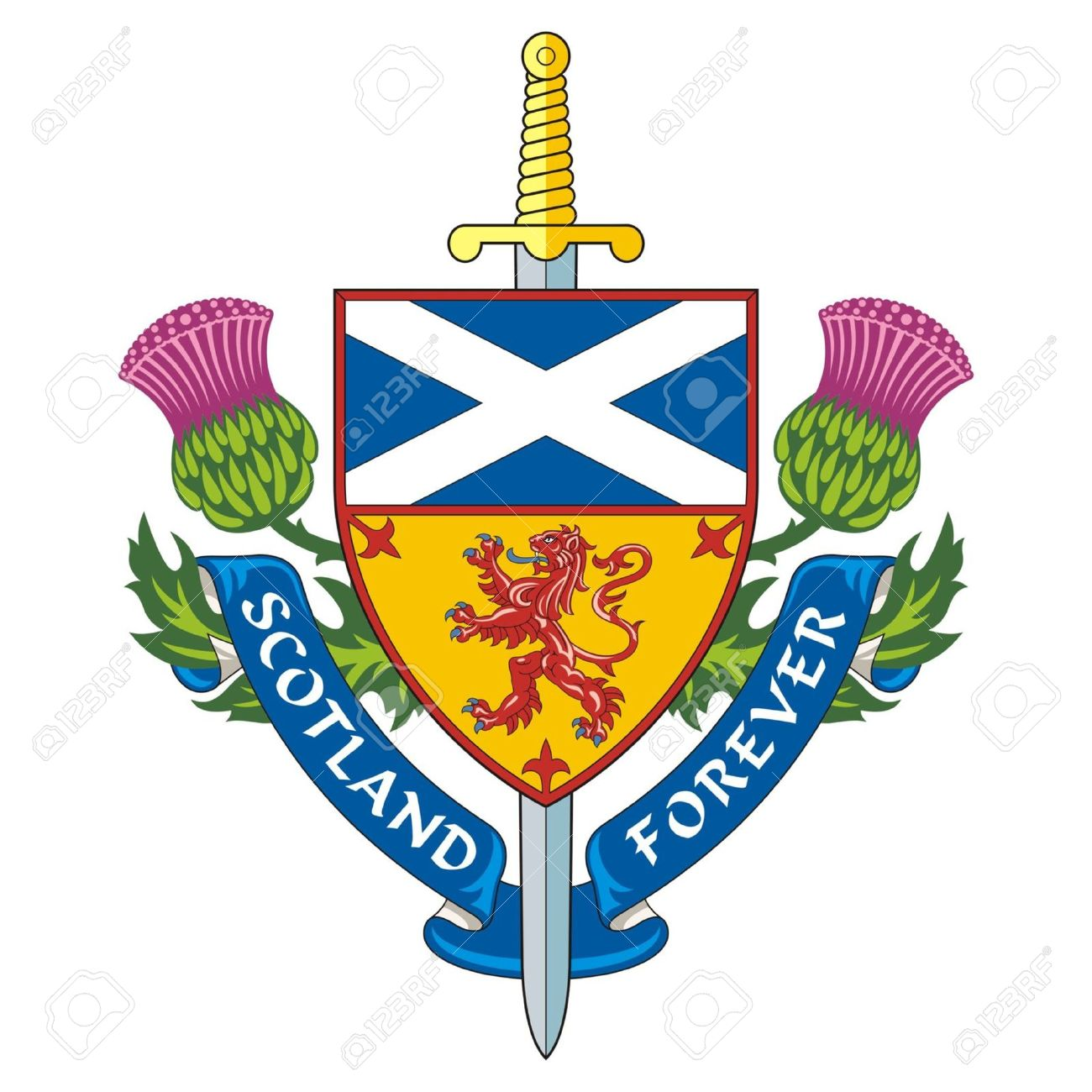 Scotland forever symbol of scotland vector royalty free cliparts scotland forever symbol of scotland vector stock vector 24805612 buycottarizona Image collections