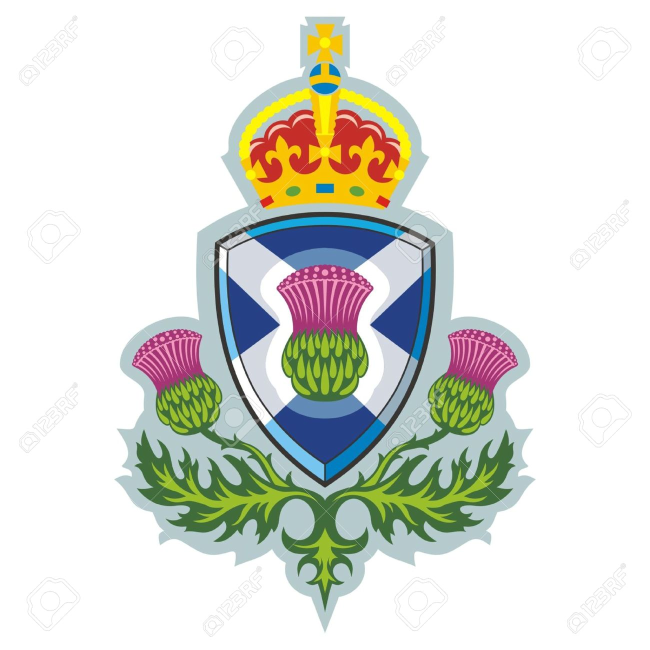 scottish thistle symbol of scotland vector royalty free cliparts