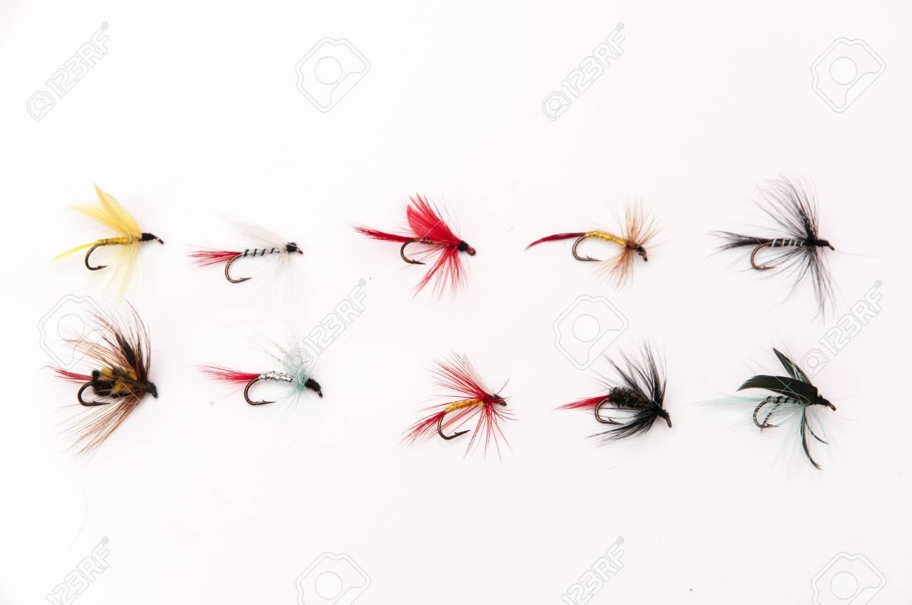 fishing flies for fishing big fish Stock Photo - 17226723