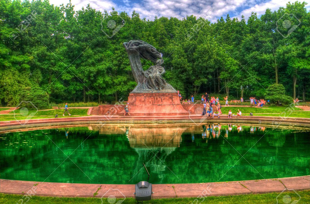 Chopin Statue In Lazienki Park Warsaw Poland Stock Photo Picture