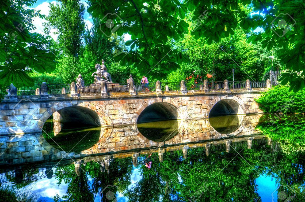 Bridge In Lazienki Park Warsaw Poland Stock Photo Picture And