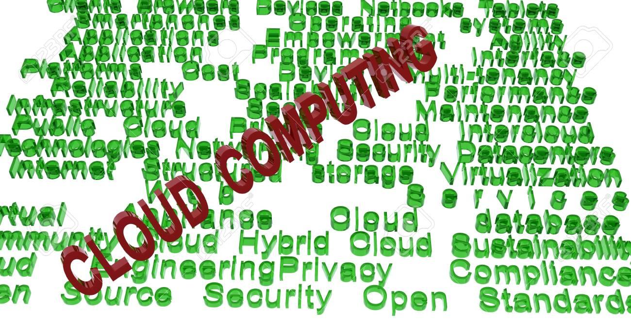 cloud computing terminologies Stock Photo - 11772293