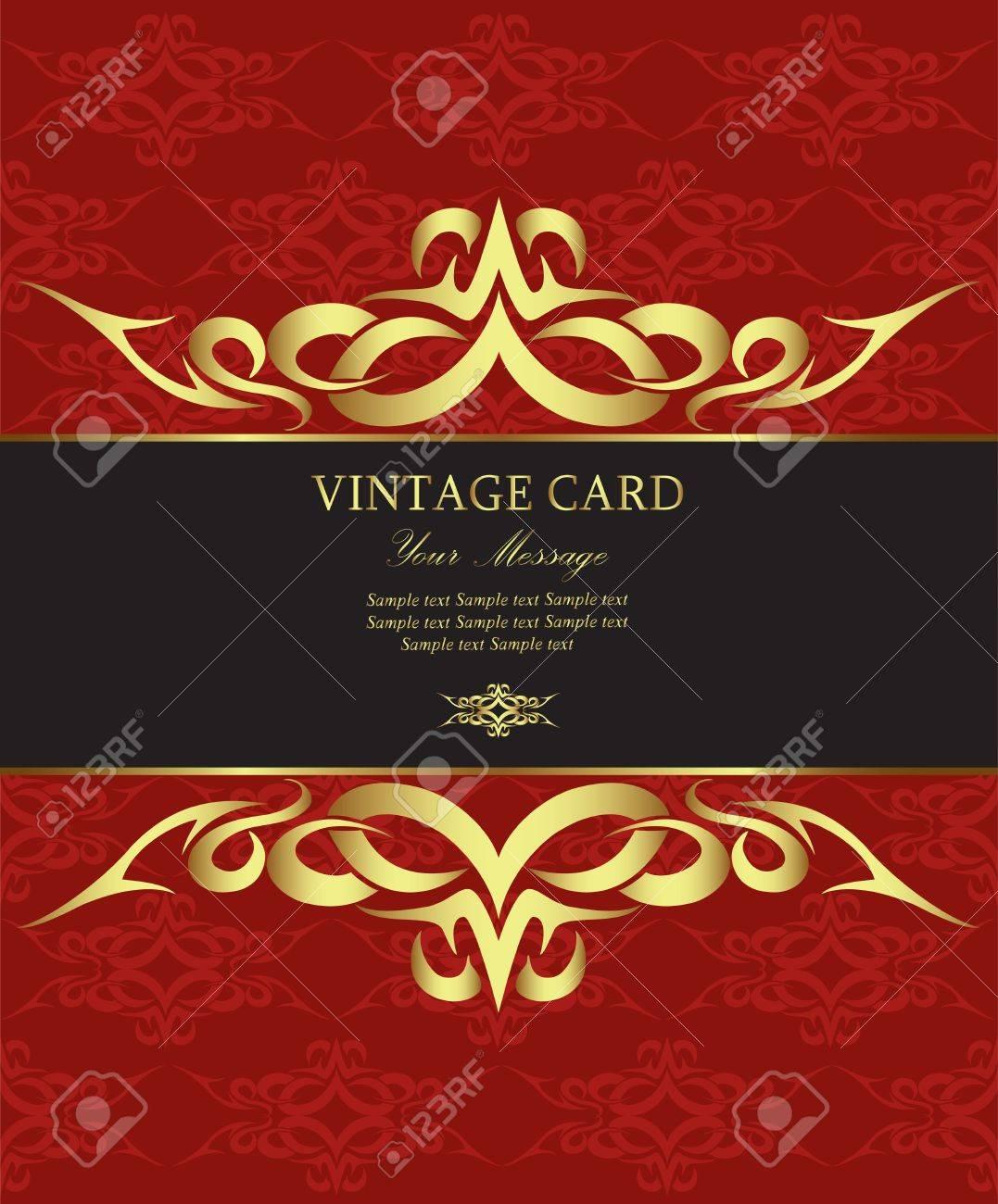 Luxury vintage card Stock Vector - 13230297