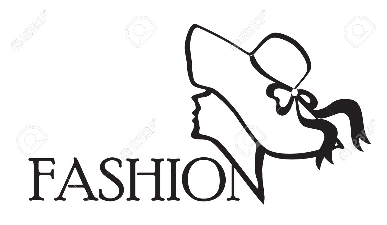 Fashion Icon Black on white background Vector illustration