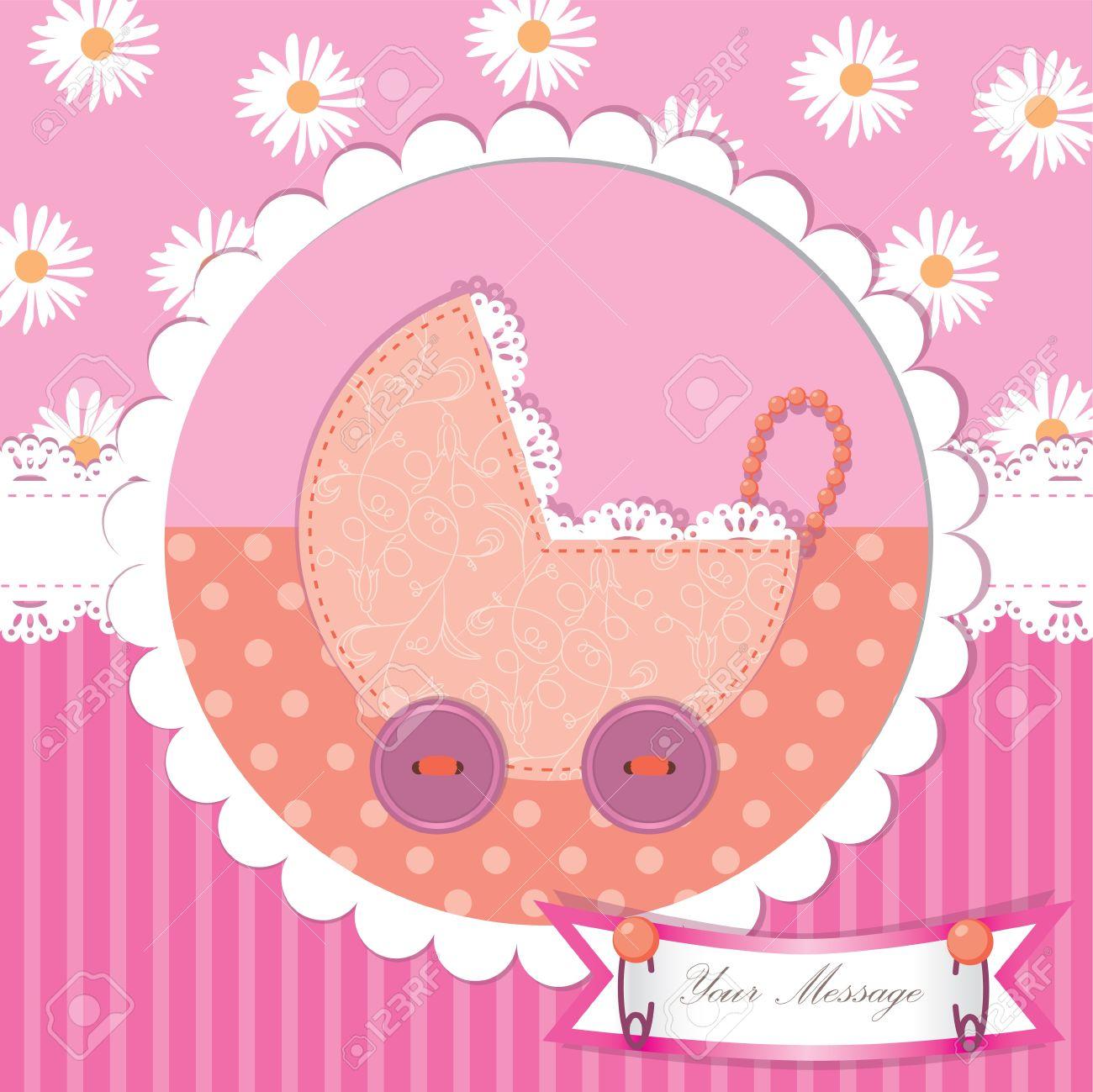 Cute baby shower and scrapbook Stock Vector - 15103183