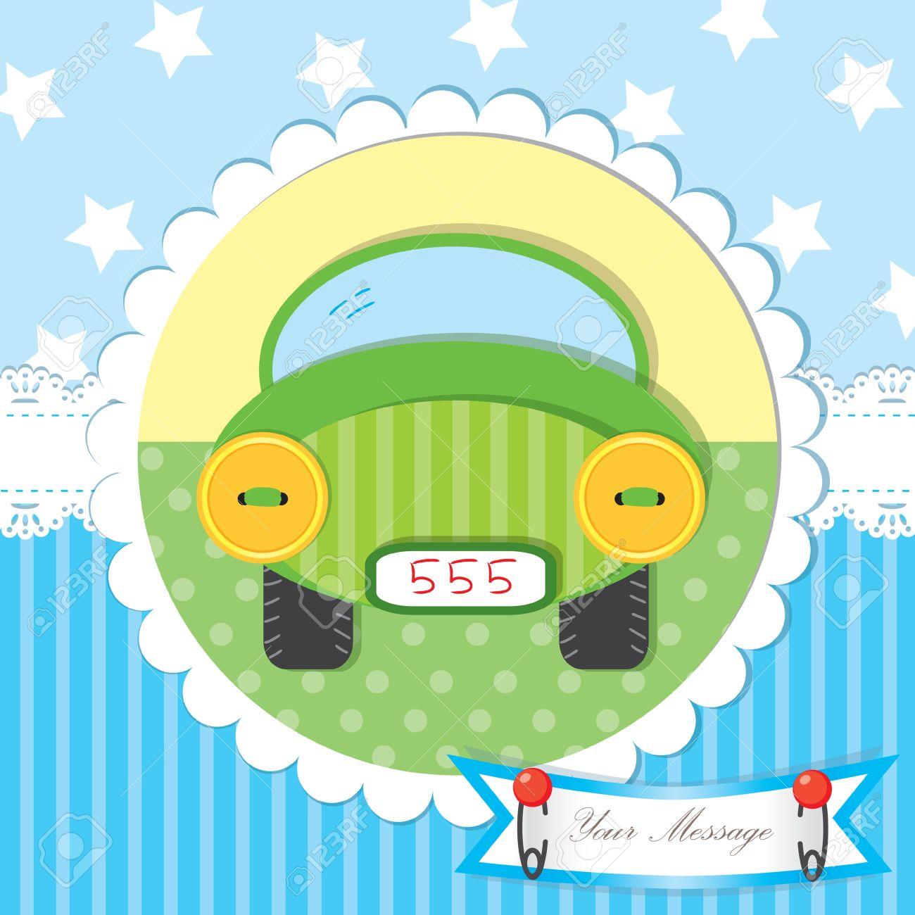 Cute baby shower and scrapbook Stock Vector - 15103181