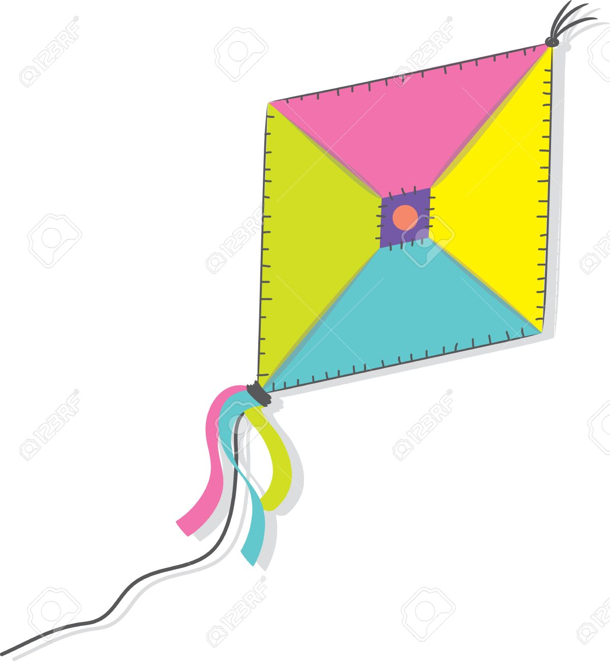 A kite isolated on the white background  illustration Stock Vector - 15385414