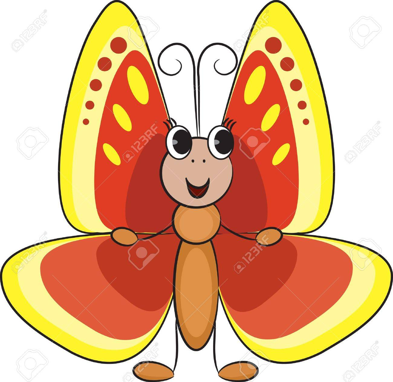 cute cartoon butterfly royalty free cliparts vectors and stock