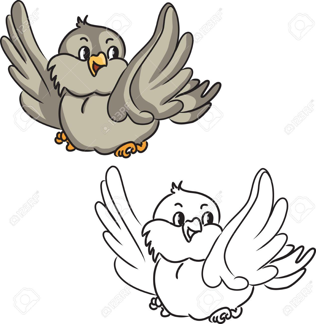Bonito Página Para Colorear De Un Pájaro Regalo - Dibujos Para ...