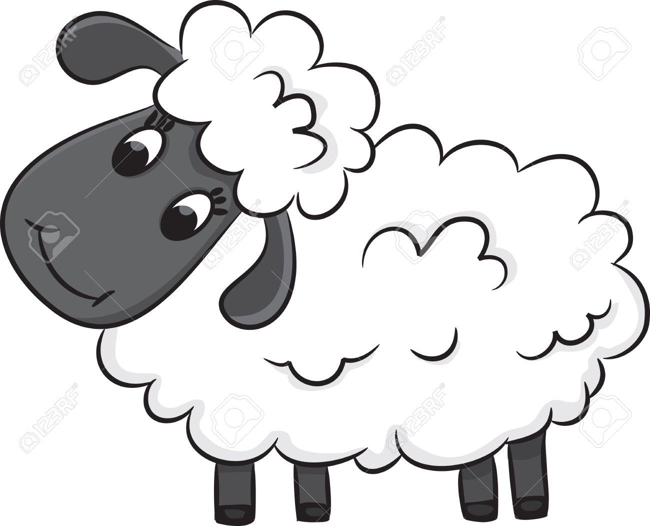 cartoon sheep vector illustration royalty free cliparts vectors rh 123rf com cartoon sheep photos cartoon sheep dog images