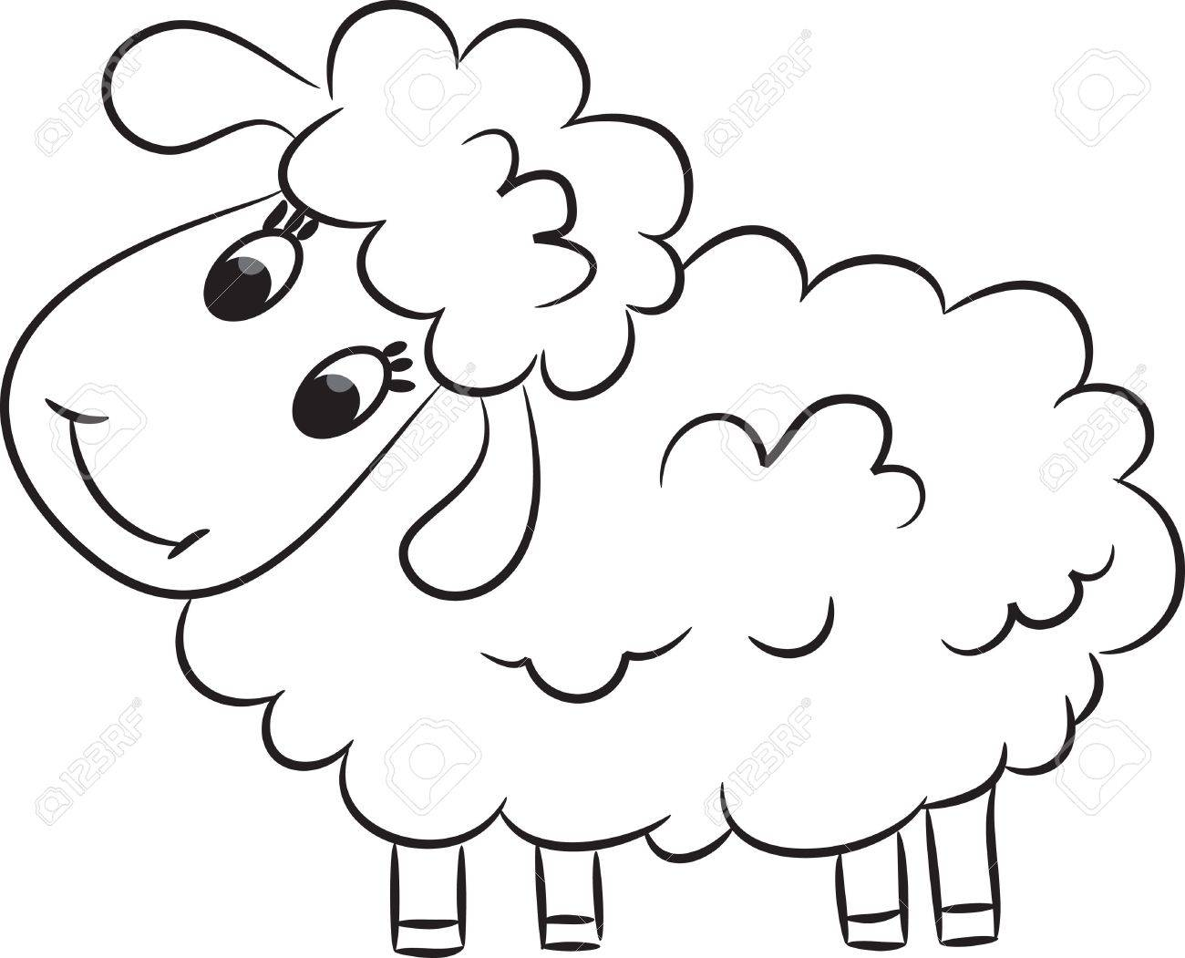 Cartoon sheep  Vector illustration Stock Vector - 15582044