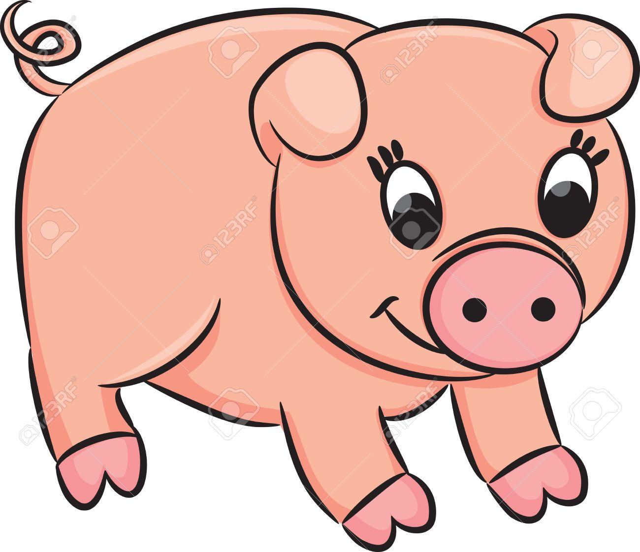 Cochon Dessin cochon dessin animé. clip art libres de droits , vecteurs et