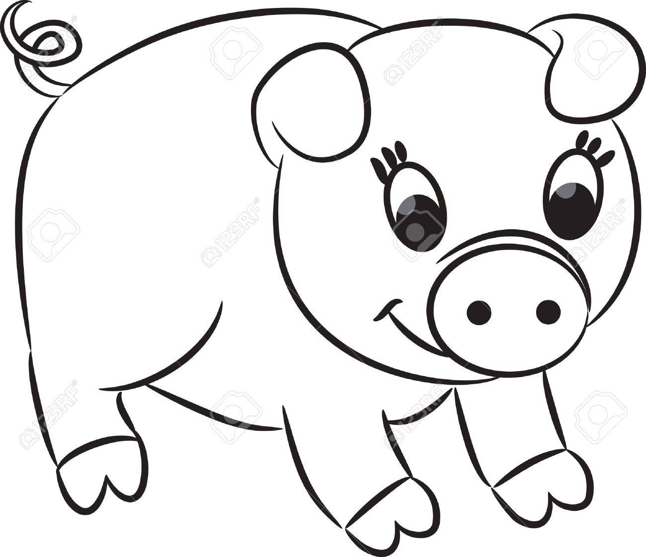 Famoso Páginas Para Colorear De Cerdos Colección de Imágenes ...
