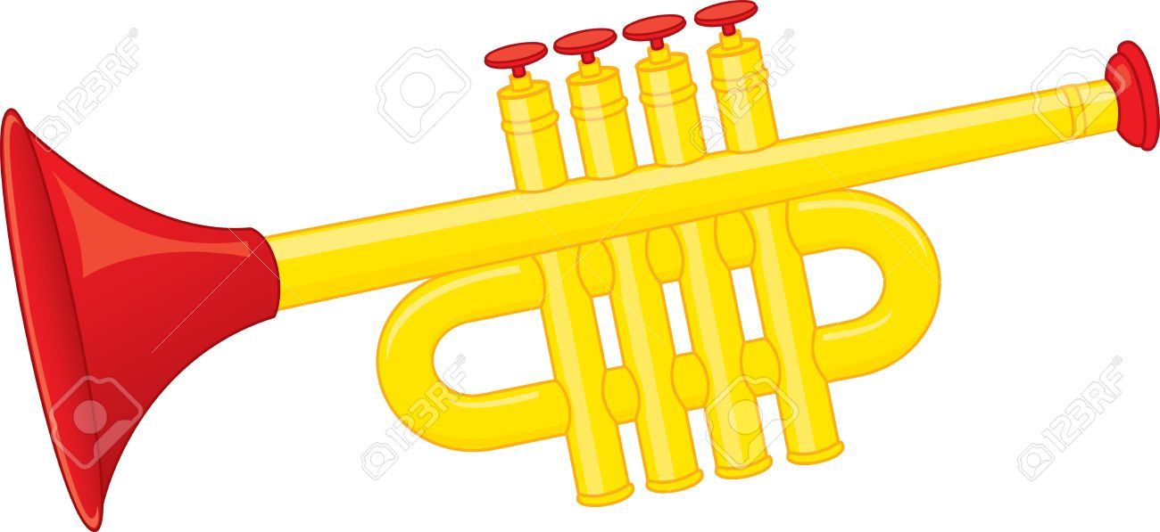 trumpet toy royalty free cliparts vectors and stock illustration rh 123rf com Trumpet Player Clip Art Playing Trumpet Clip Art