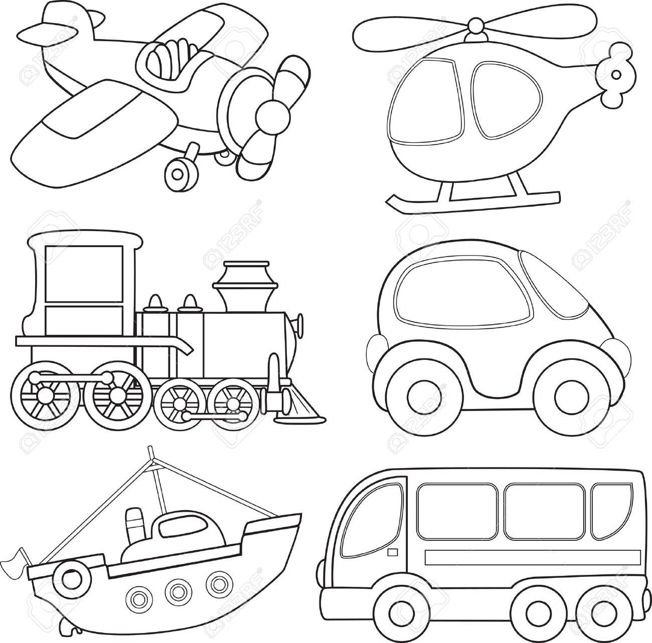 Раскраски о транспорте для детей распечатать