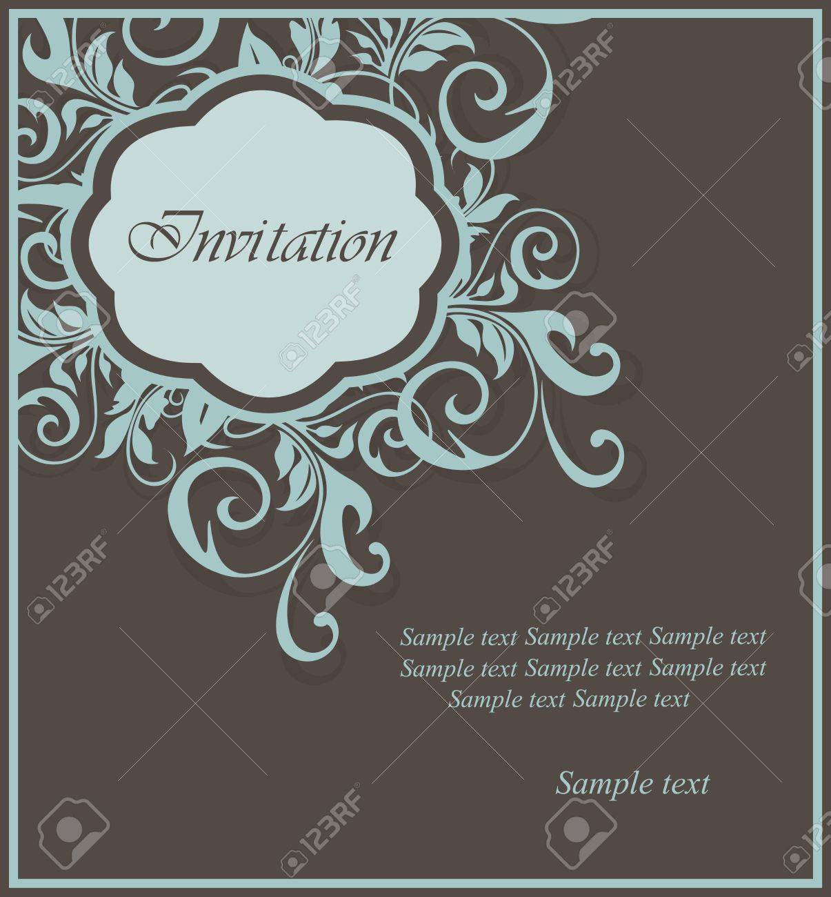 Floral invitation card Stock Vector - 16125716