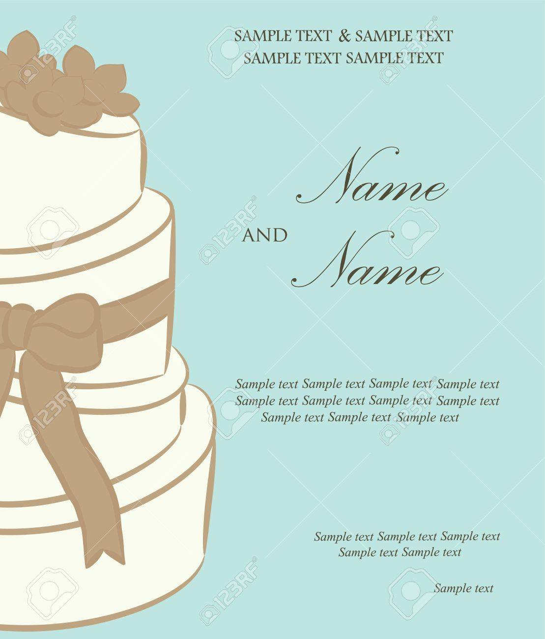 Wedding invitation or announcement  Vector illustration Stock Vector - 16710010