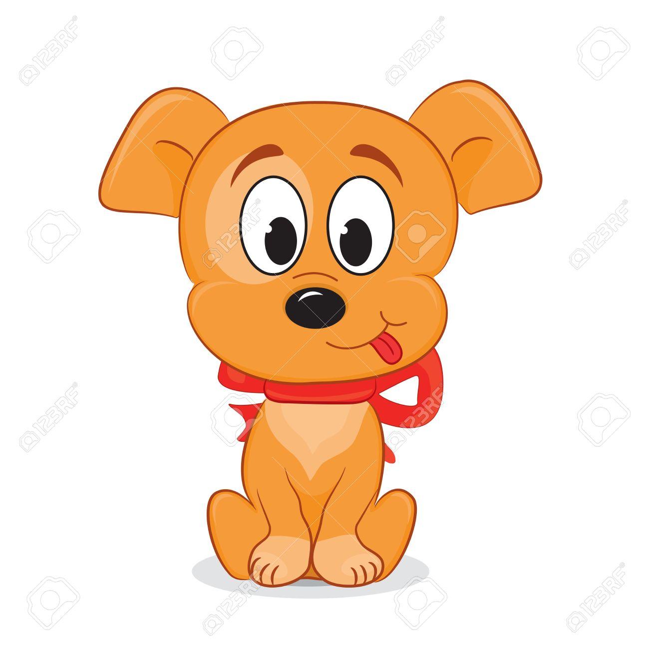 A Cute Cartoon Dog Vector Illustration Royalty Free Cliparts Vectors And Stock Illustration Image 18406720