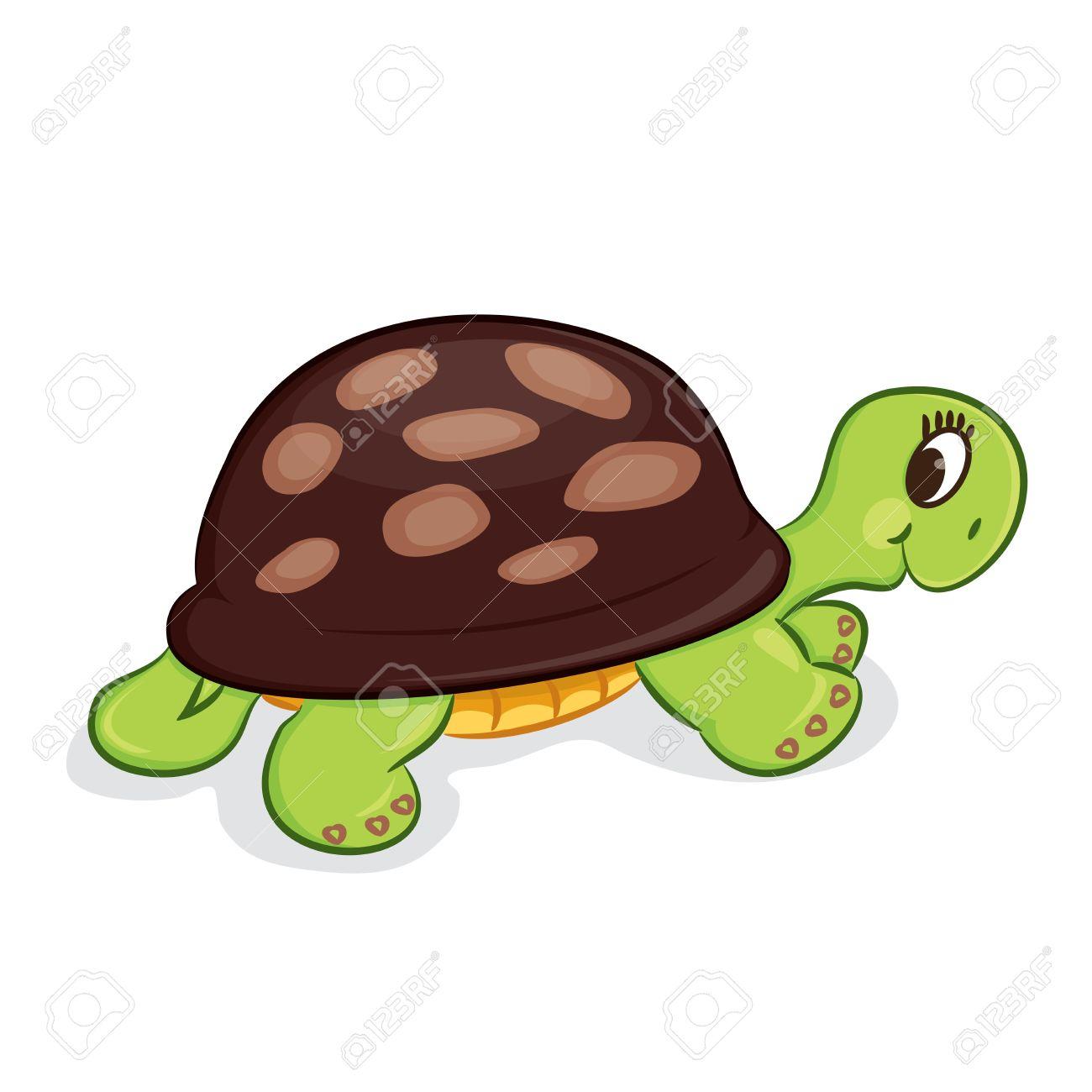 Cartoon turtle illustration - 18699981