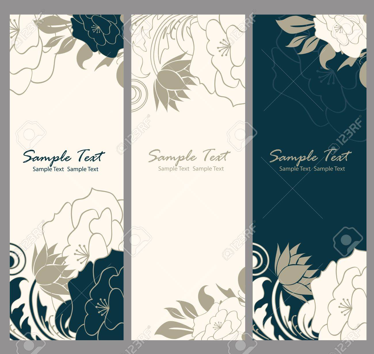 Floral banner illustration Stock Vector - 20358169