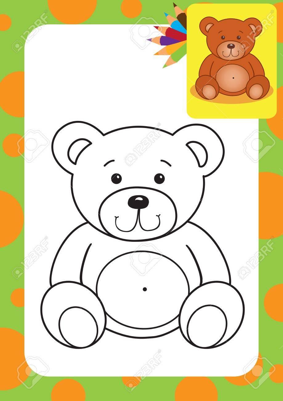 Para Oso Juguete Dibujo Colorear De Ilustración sthrdCQ