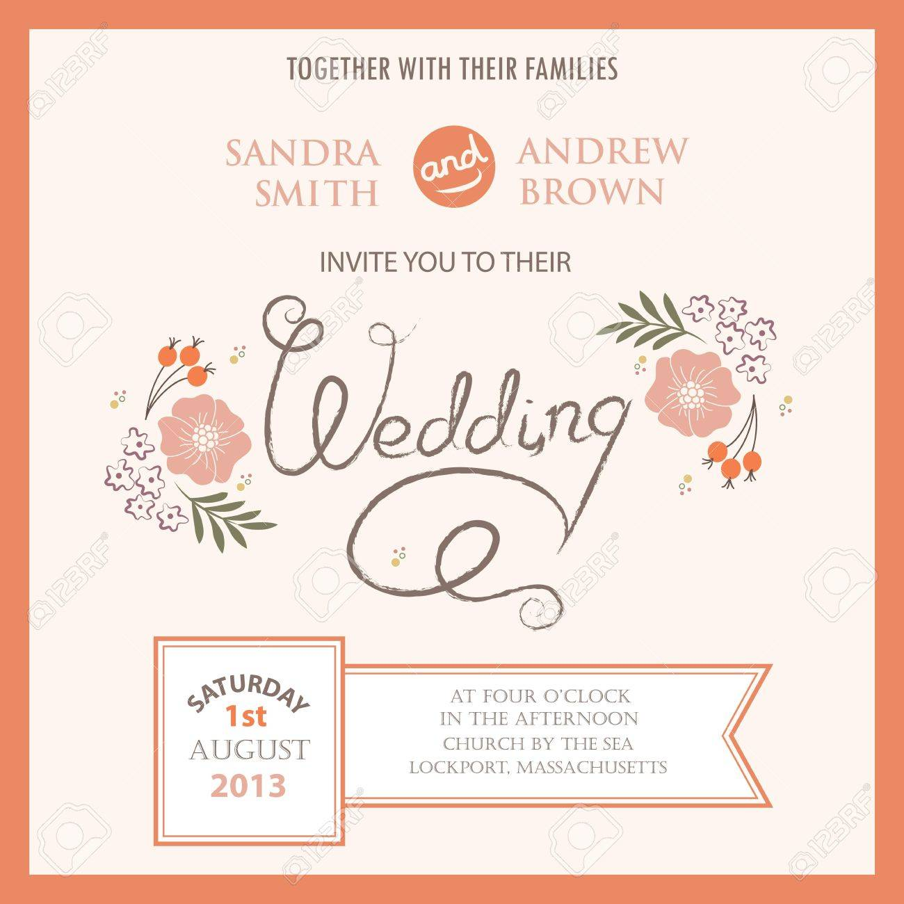 Wedding Invitation Card Royalty Free Cliparts, Vectors, And Stock ...