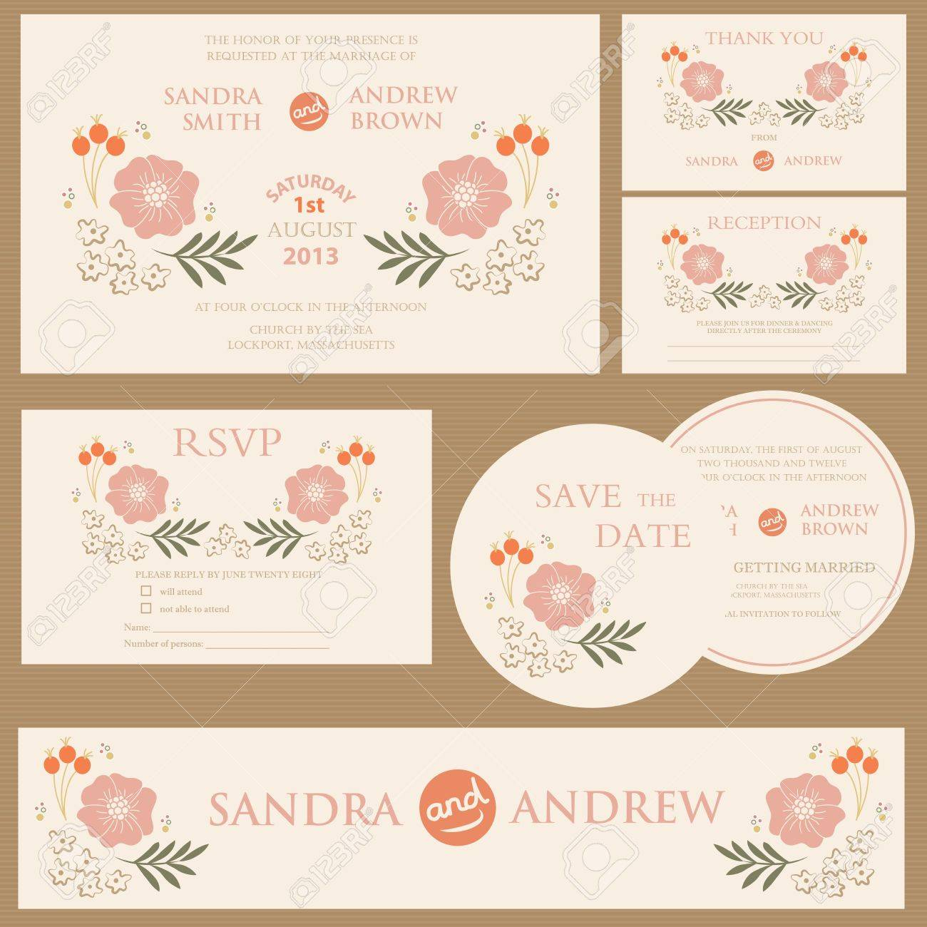Beautiful vintage wedding invitation cards royalty free cliparts beautiful vintage wedding invitation cards stock vector 20861442 stopboris Image collections