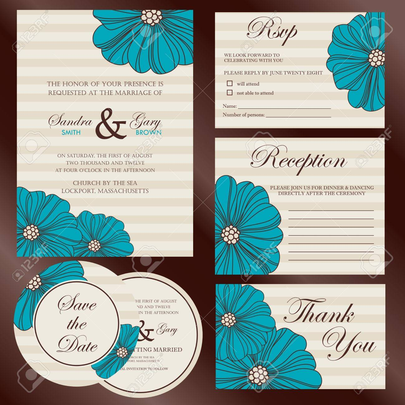 Set Of Wedding Invitation Cards Invitation Thank You Card – Invitation Card Rsvp
