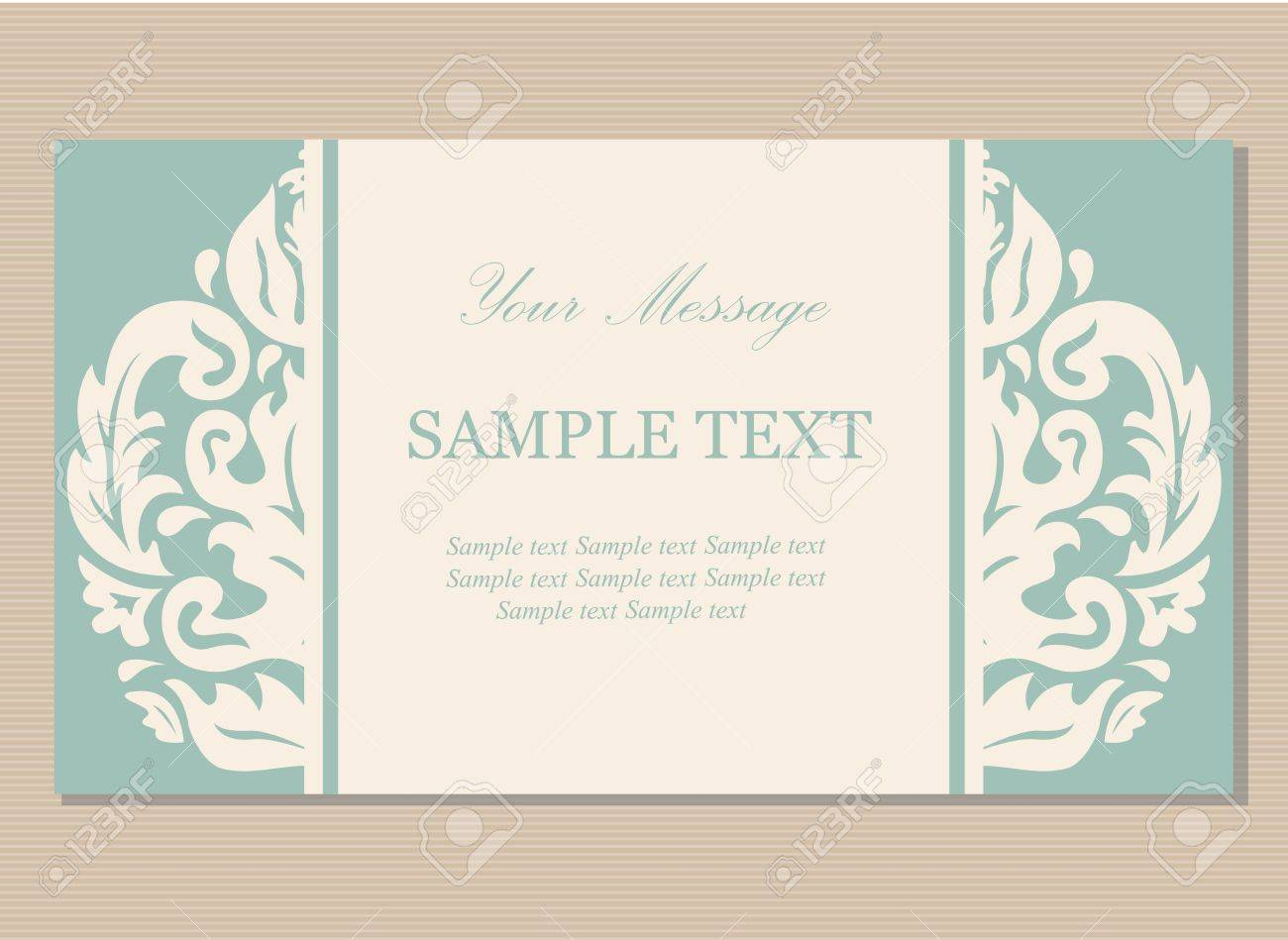Floral Vintage Business Card, Invitation Or Announcement Royalty ...
