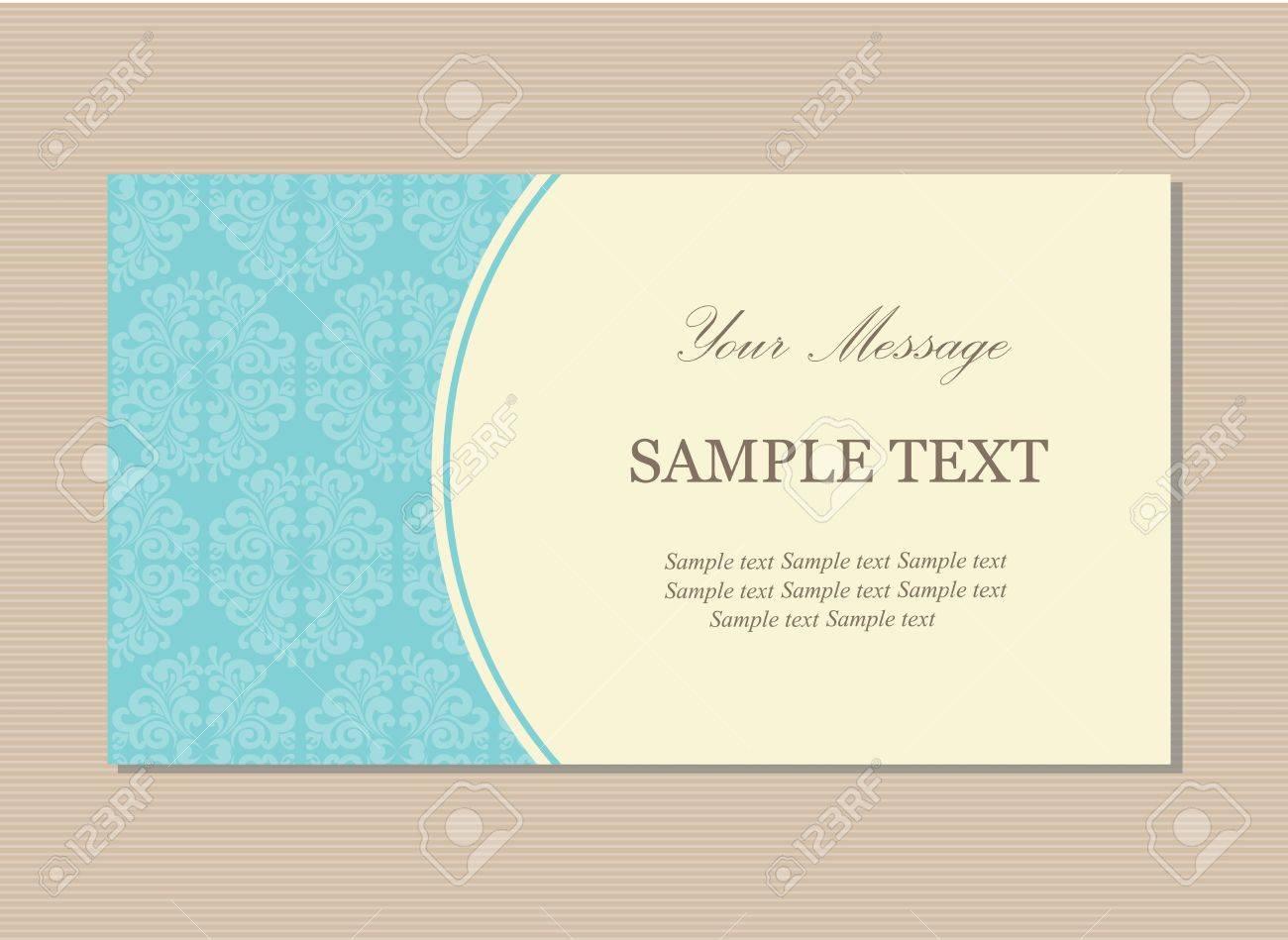 Floral Vintage Business Or Invitation Card Royalty Free Cliparts – Invitation Card Business
