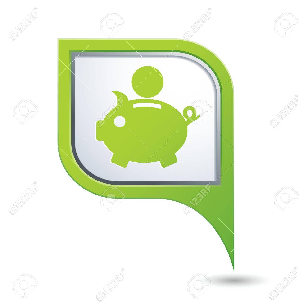 Map pointer with piggy bank icon  Vector illustration Stock Vector - 22895447