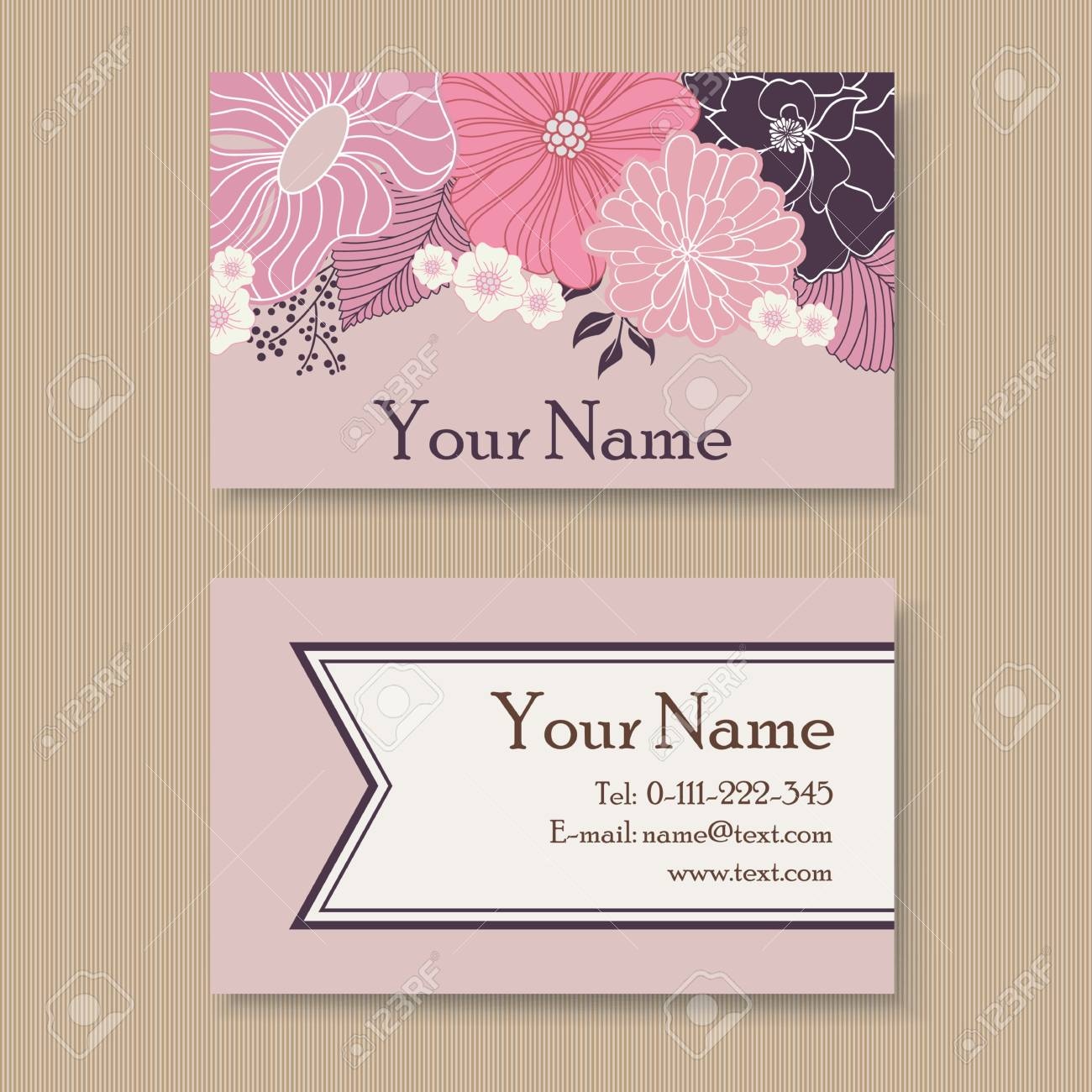 Beautiful floral business card template royalty free cliparts beautiful floral business card template stock vector 31236641 cheaphphosting Gallery