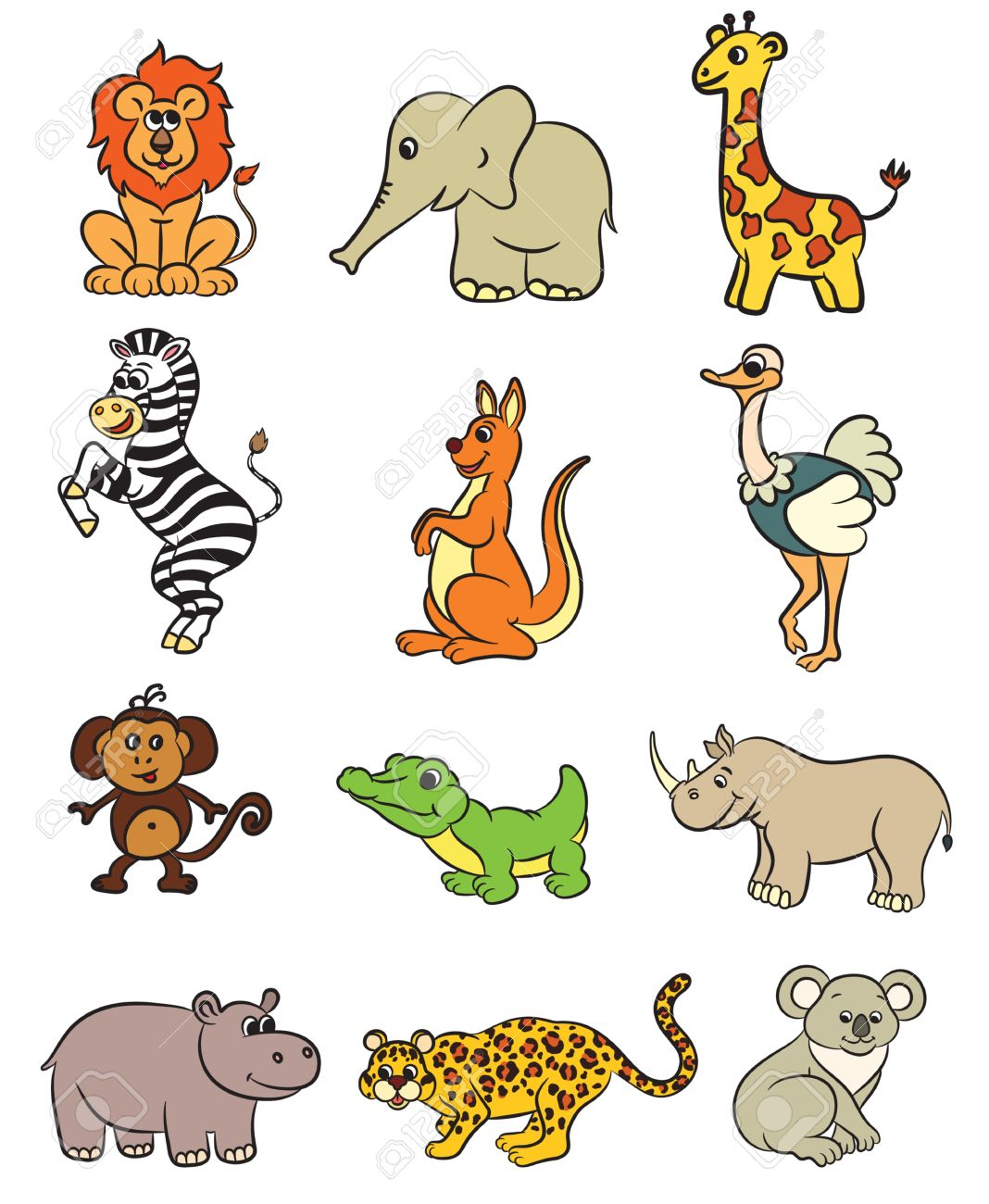 412 Cartoon Emu Stock Vector Illustration And Royalty Free Cartoon ...