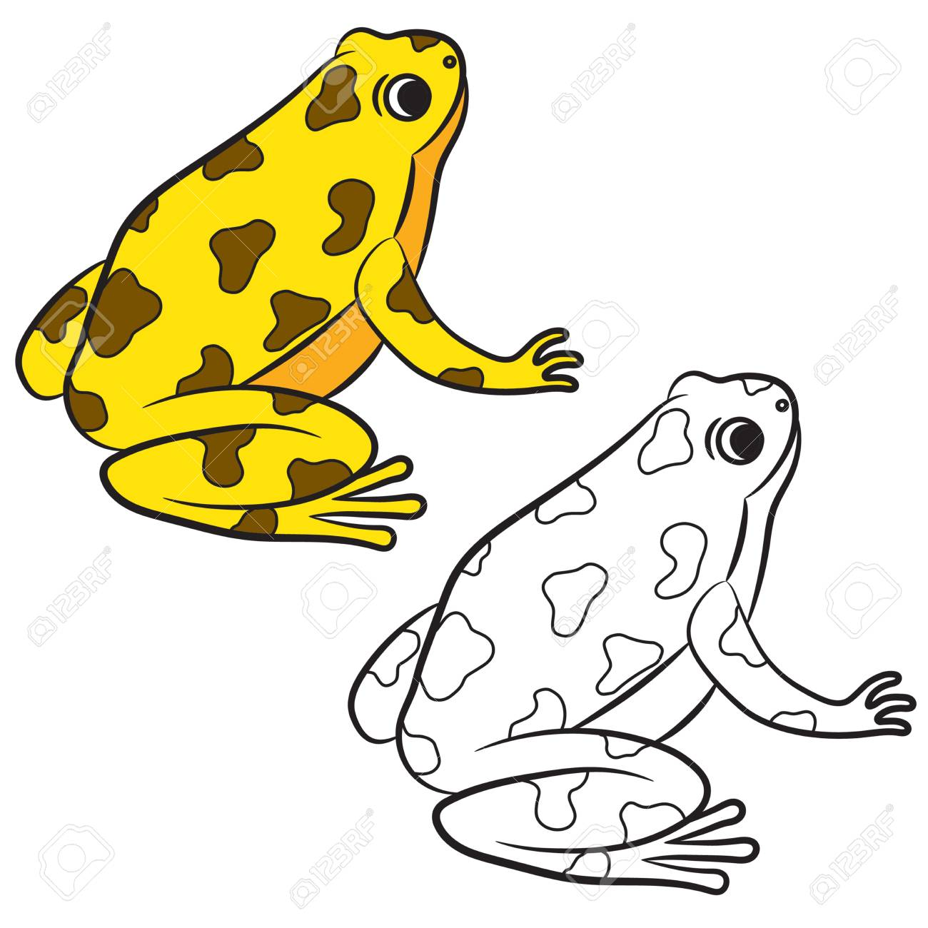 cartoon of poison dart frog coloring page vector stock vector 43574595 - Frog Coloring
