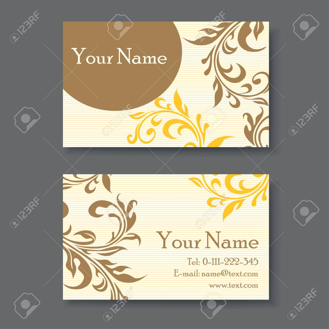 Vintage business card template with floral elements royalty free vector vintage business card template with floral elements wajeb Gallery