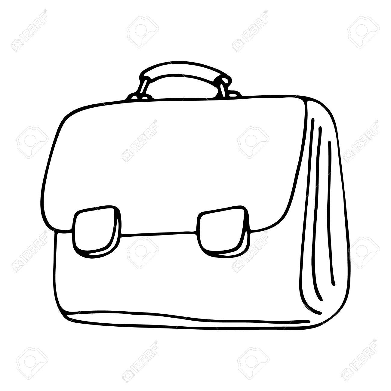 School bag isolated on white background. - 61531050