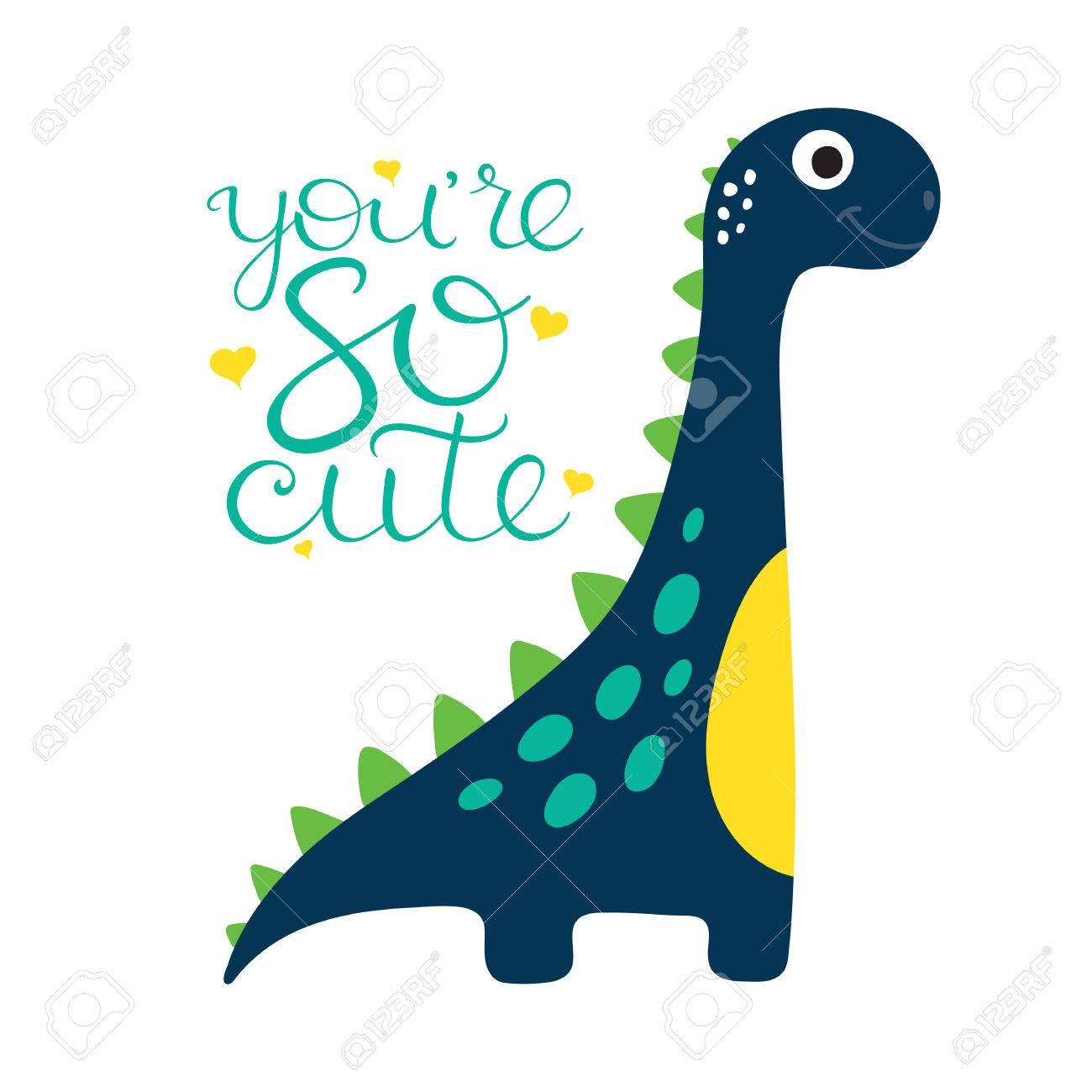 Image of: Rawr Cute Cartoon Dino Illustration You Are So Cute Stock Vector 84969242 123rfcom Cute Cartoon Dino Illustration You Are So Cute Royalty Free