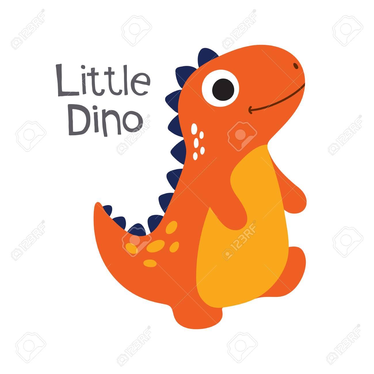 かわいい漫画恐竜のベクター イラストです小さな恐竜のイラスト素材