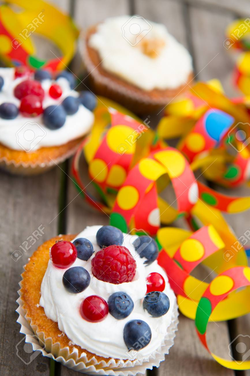 Party Muffins Stock Photo Picture And Royalty Free Image Image