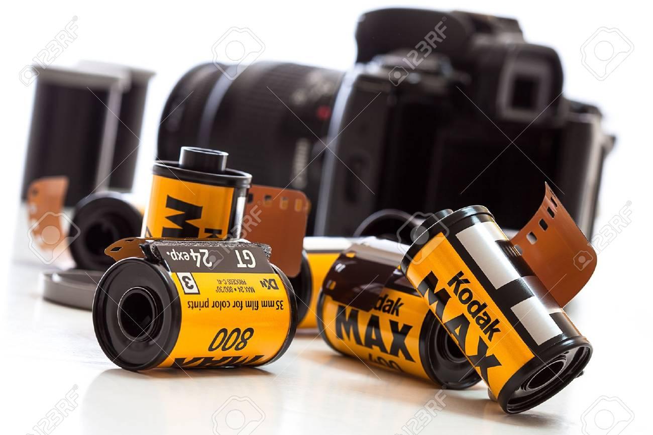Rolls of Kodak film with a camera Stock Photo - 12018070