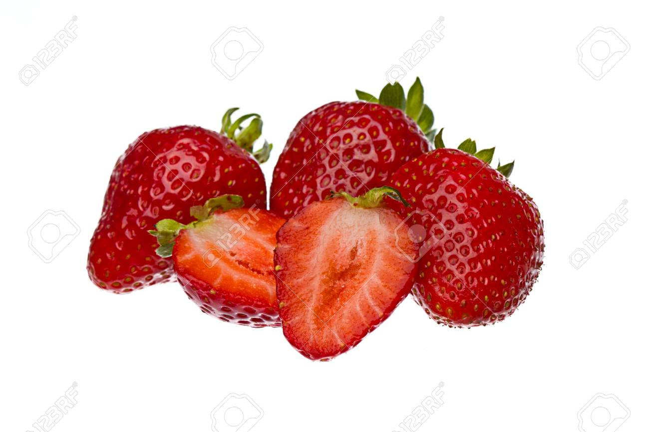 Strawberries Isolated On A White Background Stock Photo - 22313944