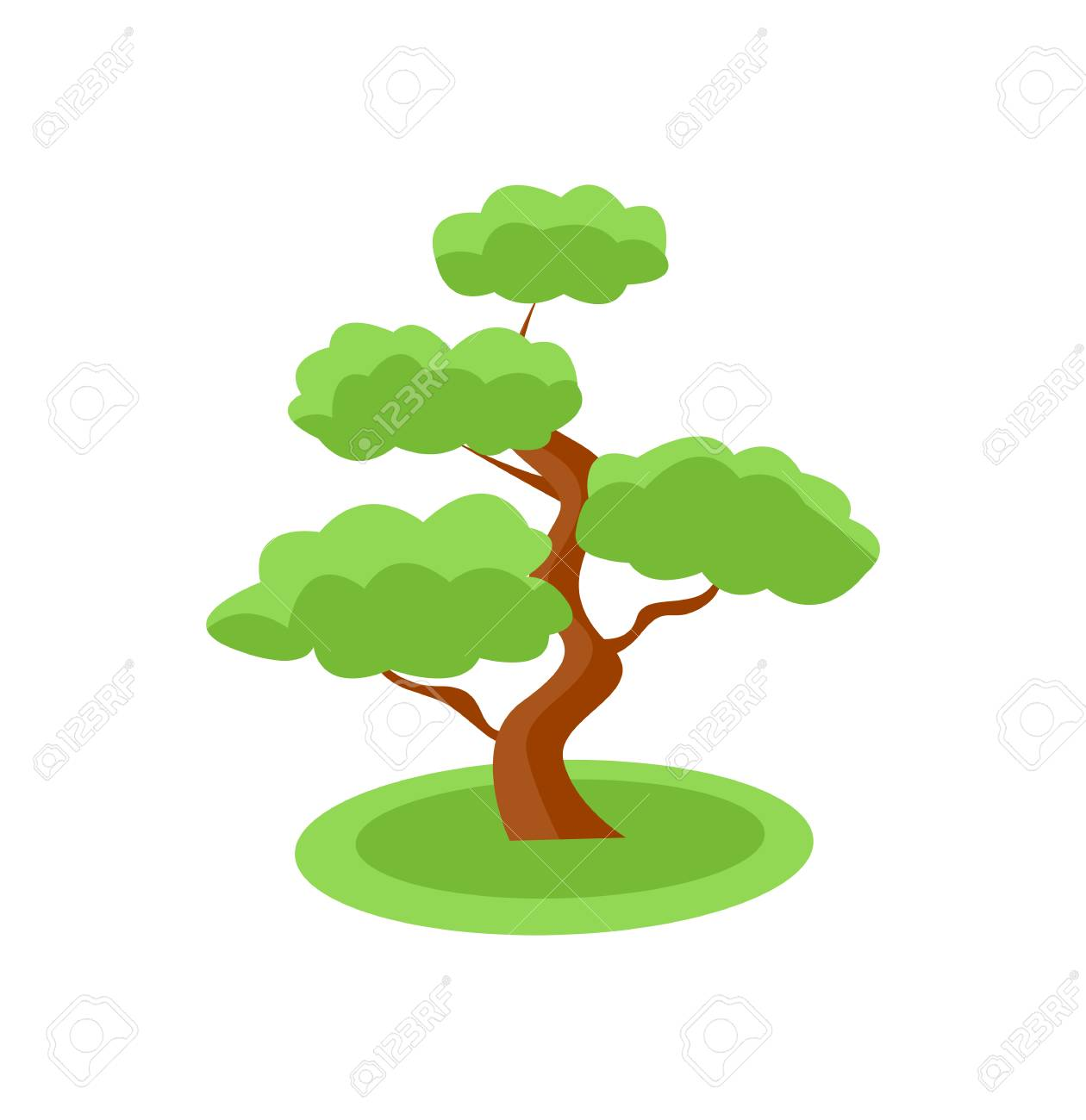 Vector Bonsai Tree Icon Symbol Illustration Royalty Free Cliparts Vectors And Stock Illustration Image 96329784