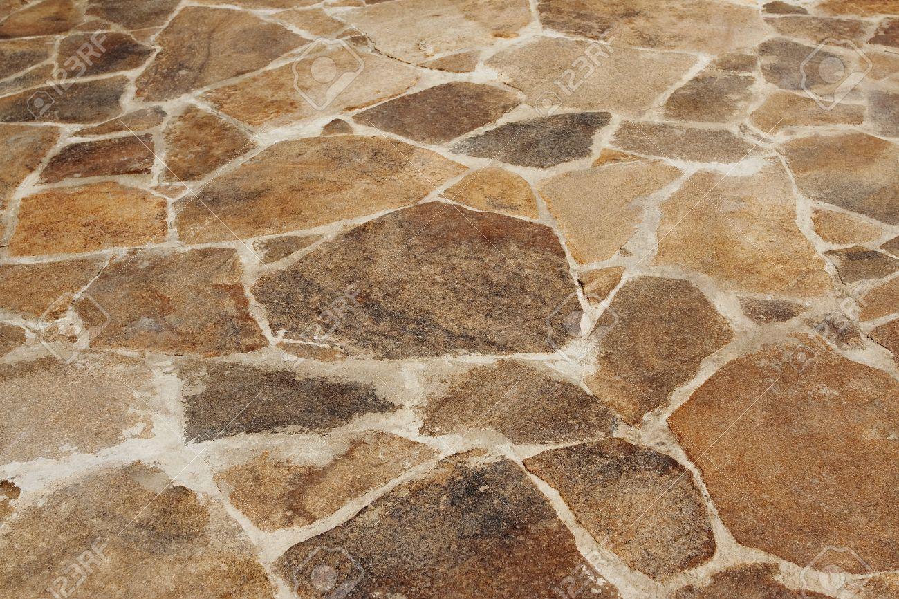 Die Oberfläche Der Steinboden Auf Der Terrasse Hintergrund, Textur ...