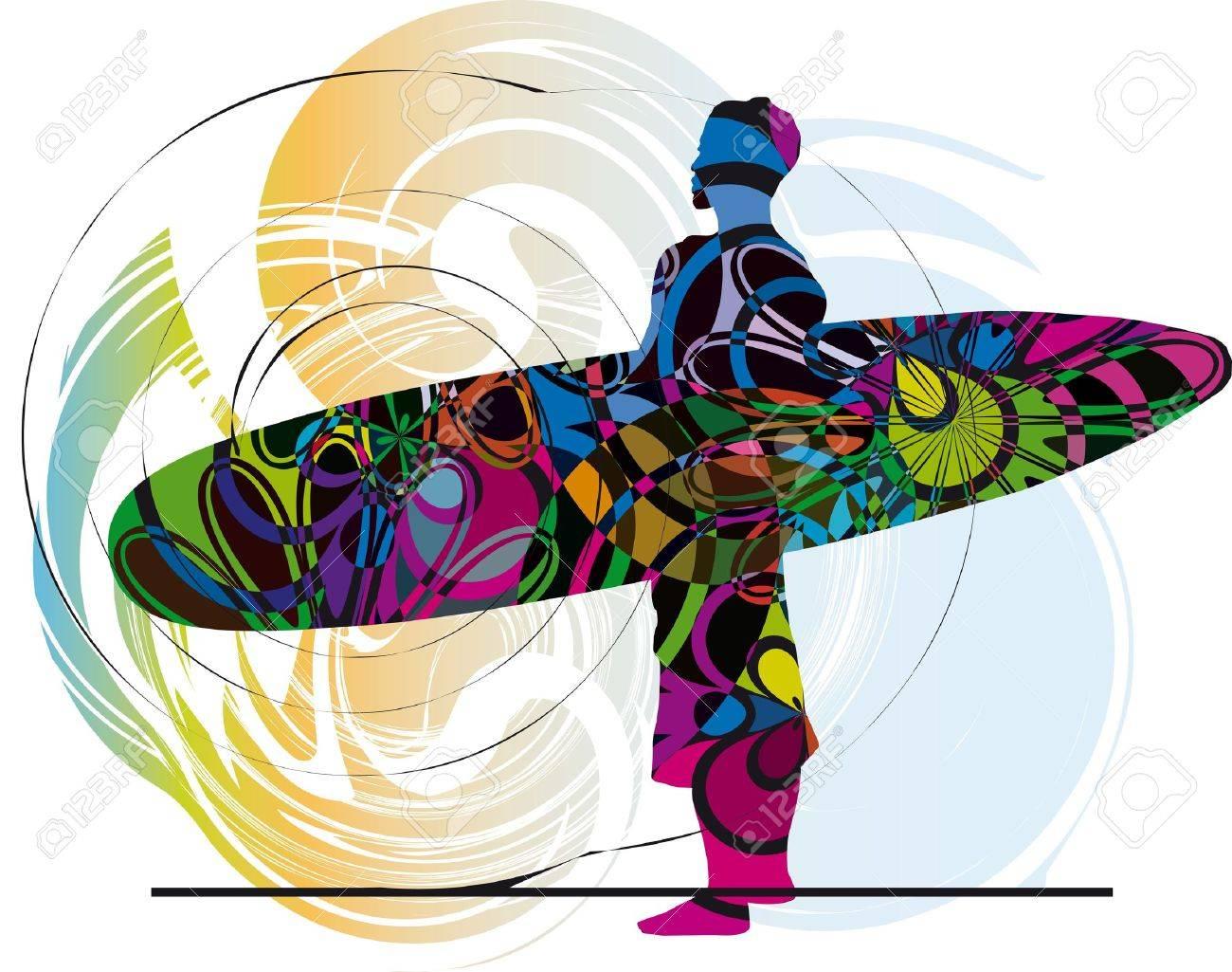 Surfer. Vector illustration Stock Vector - 10739148