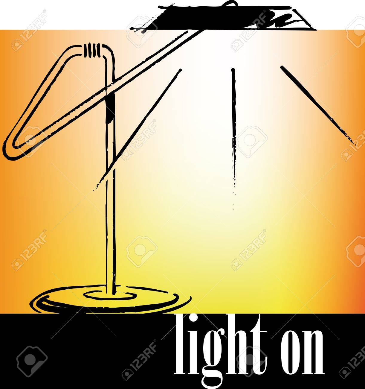 Drawing of an office lamp. Vector illustration Stock Vector - 10779006
