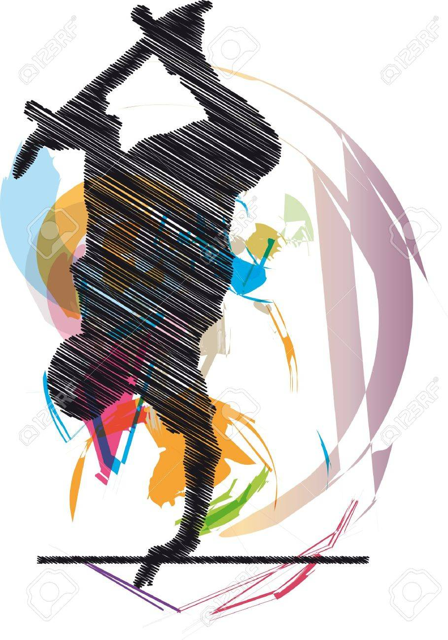 Abstract sketch of skater Stock Vector - 10779083