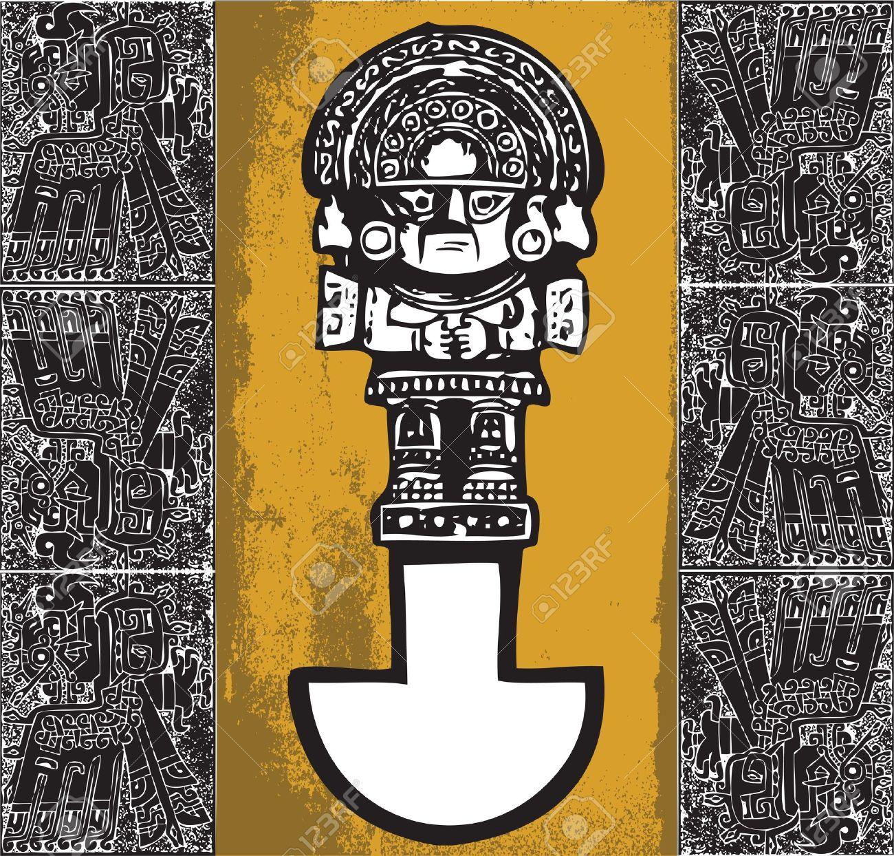 Tumi. American culture background. Vector illustration Stock Vector - 10779157